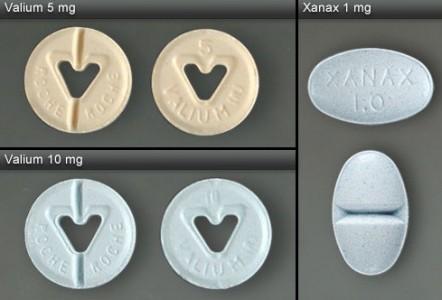 xanax and valium pills